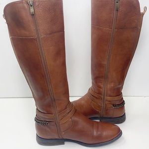 Marc Fisher Alexis Leather Riding boots 8 .5